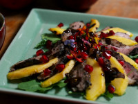 Duck and Mango with Spicy Coffee and Chocolate Sauce