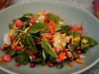 Grilled Shrimp & Rose Petal Salad